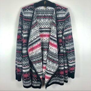 Torrid Sweaters Fair Isle Open Cardigan Sz 1